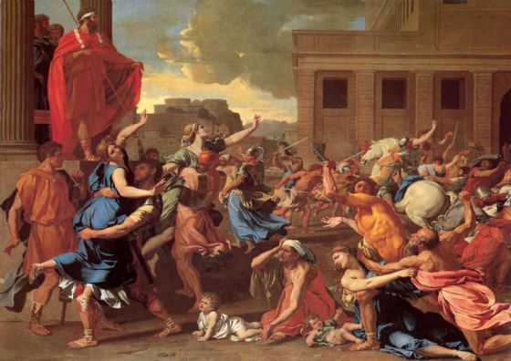 Poussin, Nicolas: The Rape of the Sabine Women. Fine Art Print/Poster. Sizes: A1/A2/A3/A4 (001665)
